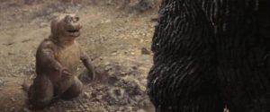 Big G's offspring Minilla lightens the mood in Jun Fukuda's Son of Godzilla (1967)