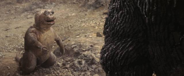 Big G's offspring Minilla lightens the mood in Jun Fukuda's Son of Godzilla (1967)