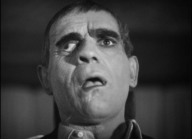 Criminal Edmond Bateman (Boris Karloff) after asking Dr, Richard Vollin for a make-over in Lew Landers' The Raven (1935)