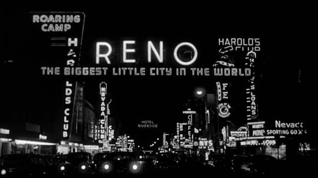 Reno, land of opportunity and excitement in Phil Karlson's 5 Against the House (1955)