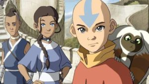 Aang with Katara and Sokka in Avatar: The Last Airbender (2005-08)