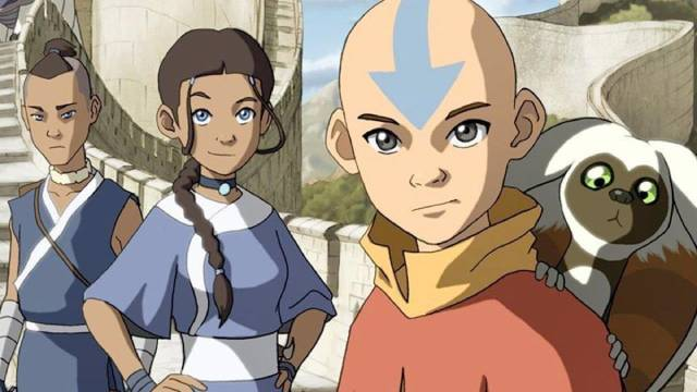 Aang with Katara and Sokka in Avatar: The Last Airbender (2005-08)