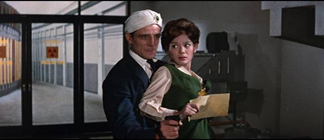 Dr. Ahmed (George Whitman) is controlled by hostile aliens in Ishiro Honda's Battle in Outer Space (1960)