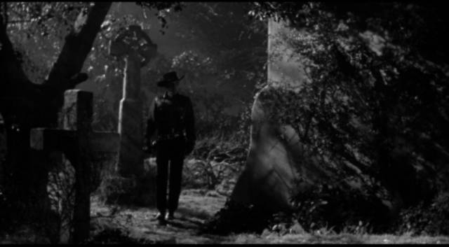 Drake Robey (Michael Pate) is a creature of the night in Edward Dein's Curse of the Undead (1959)