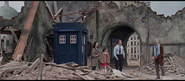 Future London has fallen on hard times in Gordon Flemyng's Daleks: Invasion Earth 2150AD (1966)