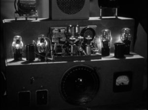 Foreign agents use high tech equipment to steal information in Budd Boetticher's Escape in the Fog (1945)