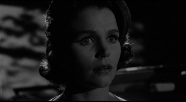 Bank teller Kelly Sherwood (Lee Remick) is terrorized by a thief in Blake Edwards' Experiment in Terror (1962)