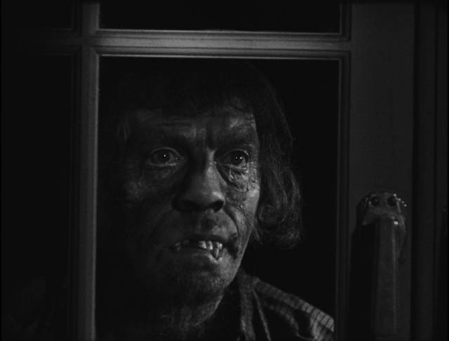 The titular face appears to signal imminent murder in George King's The Face in the Window (1939)