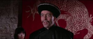 Christopher Lee as the archfiend in Don Sharp's The Face of Fu Manchu (1965)