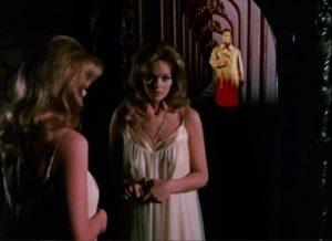 Barbara (Lynda Day) sees her dead fiancee Paul Varney (Bradford Dillman) in an alternate world through the mirror in Paul Wendkos' Fear No Evil (1968)