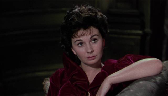 Lily (Jean Simmons) misjudges her newfound power in Arthur Lubin's Footsteps in the Fog (1955)