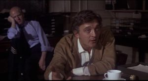 Tim Brett (David Hemmings) has a hard time convincing the police that his paranoia is justified in Richard C. Sarafian's Fragment of Fear (1970)