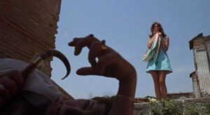 Juliet Bristow (Gayle Hunnicutt) discovers a body in Pompeii in Richard C. Sarafian's Fragment of Fear (1970)