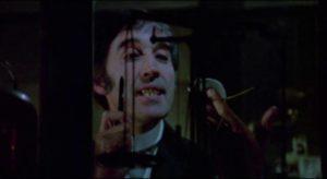 ... with good reason as Dr.Marlowe (Christopher Lee) is conducting dangerous drug experiments in Stephen Weeks' I, Monster (1971)