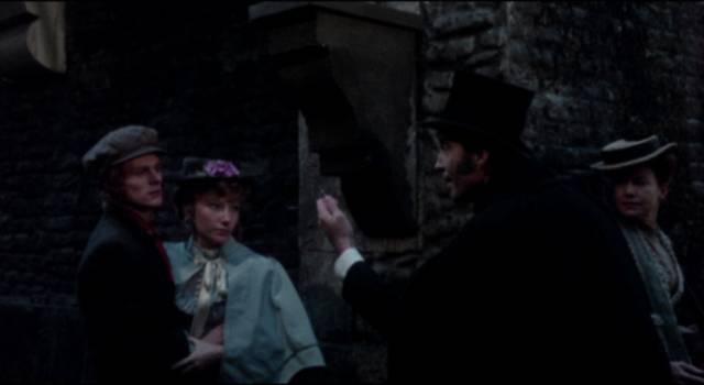 Mr. Blake (Christopher Lee) gets into a nasty street brawl in Stephen Weeks' I, Monster (1971)