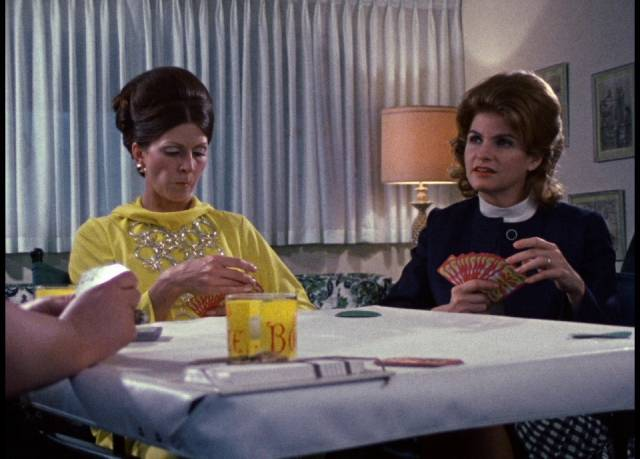 Joan (Jan White) fills her time with unfulfilling social and domestic routines in George A. Romero's Season of the Witch (1972)