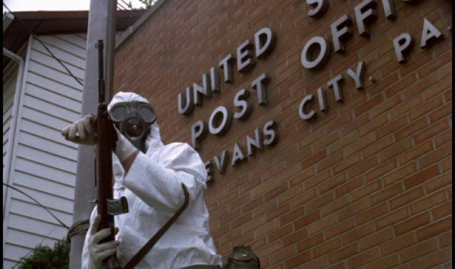 Government authority becomes a threat to ordinary citizens in George A. Romero's The Crazies (1973)