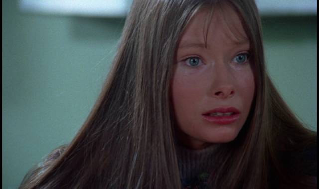 Kathy (Lynn Lowry), infected by the virus, gradually goes mad in George A. Romero's The Crazies (1973)