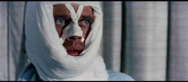 John David Welles (Michael Sarrazin) loses his memory and his identity in Lamont Johnson's The Groundstar Conspiracy (1972)