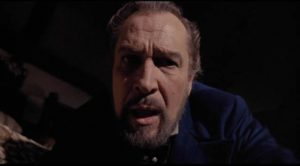 Aristocrat Julian Markham (Vincent Price) is haunted by an African curse in Gordon Hessler's The Oblong Box (1969)