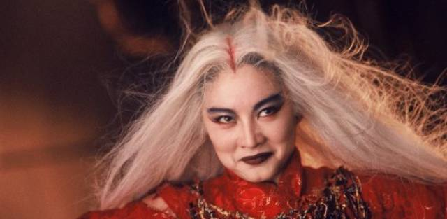 Brigitte Lin as the vengeful Lian Nichang in Ronny Yu's The Bride With White Hair (1993)