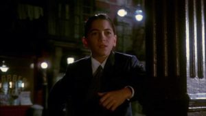 15-year-old Scott Baio is a good-guy gangster in Alan Parker's Bugsy Malone (1976)