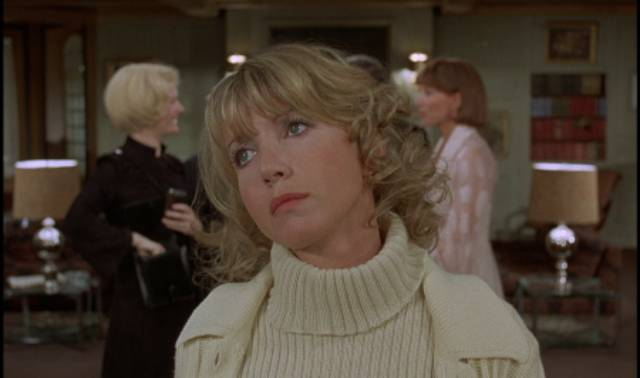 Florence (Bulle Ogier) really just wants a drink in Luis Bunuel's The Discreet Charm of the Bourgeoisie (1972)