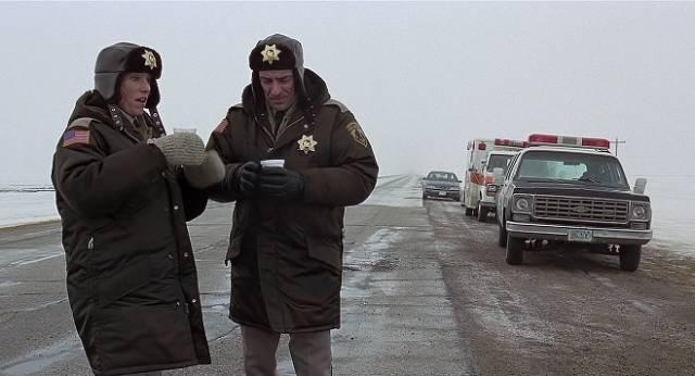 Marge Gunderson (Frances McDormand) investigates violent crimes in Minnesota in the Coen Brothers' Fargo (1996)