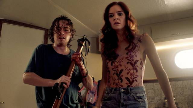Things turn nasty when three friends are stranded at sea in Rob Grant's Harpoon (2019)