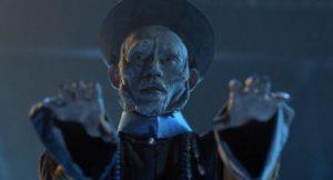 Yuen Wah as the distinctive Chinese hopping vampire in Ricky Lau's Mr. Vampire (1985)
