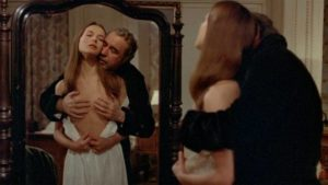 Mathieu (Fernando Rey) is held in a constant state of unfulfilled desire by Conchita (Barbara Bouquet) in Luis Bunuel's That Obscure Object of Desire (1977) ...