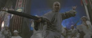 The umbrella is a favourite impromptu weapon in martial arts movies like Tsui Hark's Once Upon a Time in China 2 (1991)