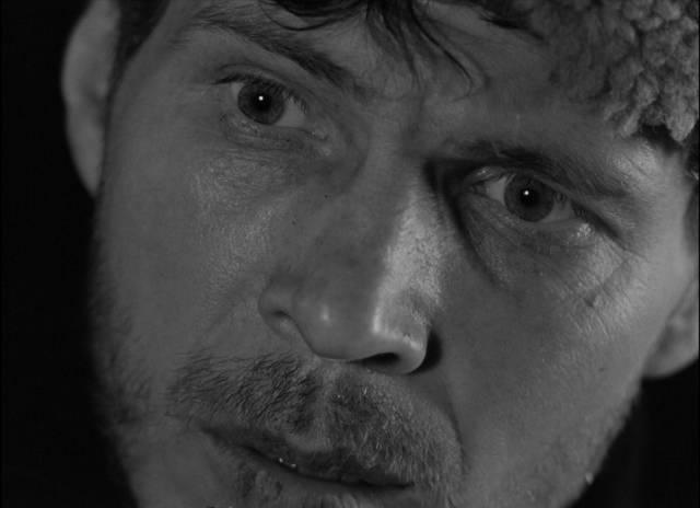 Rybak (Vladimir Gostyukhin) desperately wants to find a way to survive in Larisa Shepitko's The Ascent (1977)