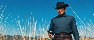 Righteous anger drives rancher Jim Douglass (Gregory Peck) in Henry King's The Bravados (1958)