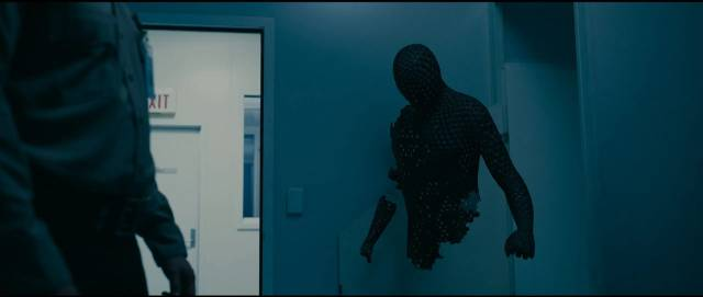 The hi-tech invisibility suit breaks down in Leigh Whannell's The Invisible Man (2020)