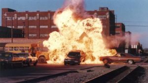Stuff blows up in John Stewart's Action U.S.A. (1988)