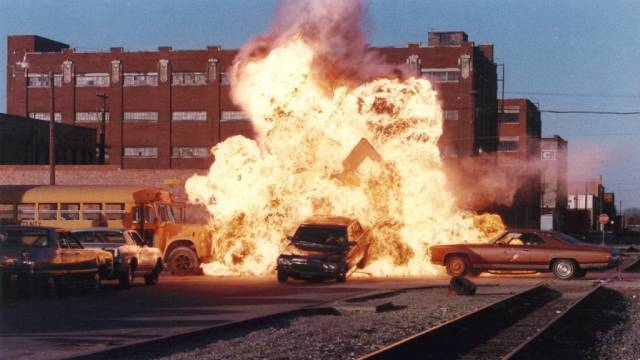Stuff blows up in John Stewart's Action U.S.A. (1988)