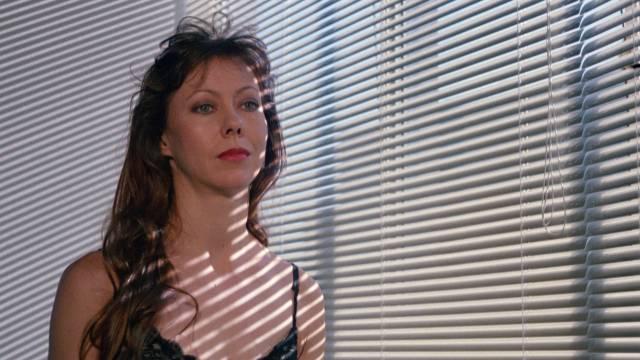 """Architect Carolyn Page (Jenny Agutter) is haunted in """"Ken Barnett's"""" Dark Tower (1989)"""