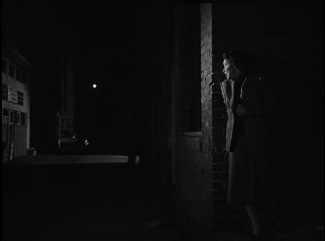 The Gamin (Adrienne Barrett) is trapped in a noirish cycle of violence in a city of perpetual night in John Parker's Dementia (1953)