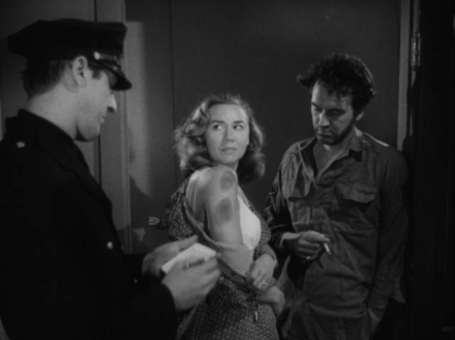 Violence permeates the Gamin (Adrienne Barrett)'s world in John Parker's Dementia (1953)