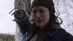 A young woman (Sally Conway) confronts her attacker in Douglas Buck's Prologue (2003)