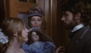 Robert (Leigh Lawson) wants to dispose of his sister Sophy (Marianne Faithful) in Stephen Weeks' Ghost Story (1974)