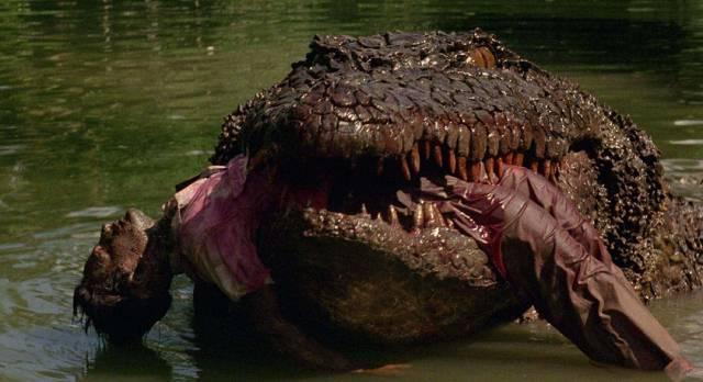 Yep, that's a very big reptile in Fabrizio De Angelis' Killer Crocodile (1989)