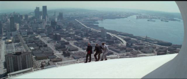 Violent death atop an icon of America's future in Alan J. Pakula's The Parallax View (1974)