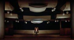 Joe Frady (Warren Beatty) undergoes a final psychological test in Alan J. Pakula's The Parallax View (1974)