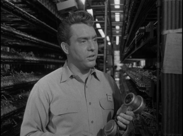 Mal Granger (Edmond O'Brien) knows all about phones in Joseph M. Newman's 711 Ocean Drive (1950)