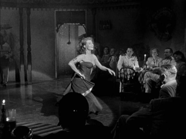 Chris Emery (Rita Hayworth) heats the tropical night in Vincent Sherman's Affair in Trinidad (1952)