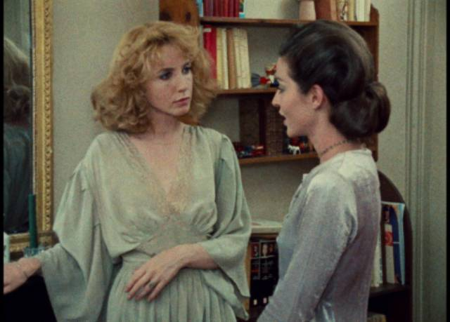 Camille (Bulle Ogier) and Sophie (Marie-France Pisier) compete for the affections of widower Olivier (Barbet Schroeder) in Jacques Rivette's Celine and Julie Go Boating (1974)