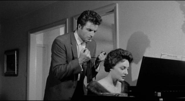 Claude (Vince Edwards) has a psychological block about killing women in Irving Lerner's Murder by Contract (1958)
