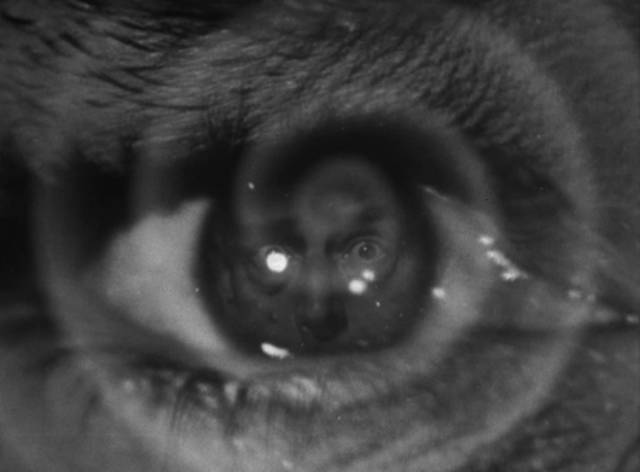The power of Alex Gregor (Lon Chaney)'s mind is deadly in Harold Young's The Frozen Ghost (1945)